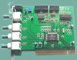 4 Channel Digital Video Recorder PCI Card